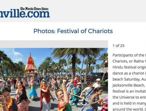The Florida Union Times Article on Jacksonville Festival of Chariots